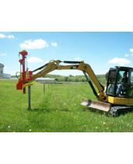 Vector Mini-Excavator Post Driver Model