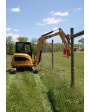 Vector Mini-Excavator Model Over Fence