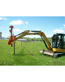 Vector Mini-Excavator Post Driver Model
